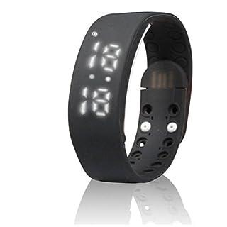 AutoBoy Multifunction W2 3D Waterproof USB LED Sports Smart Bracelet Wristwatch Wristband With Calorie Pedometer Sleep Monitor(Black)