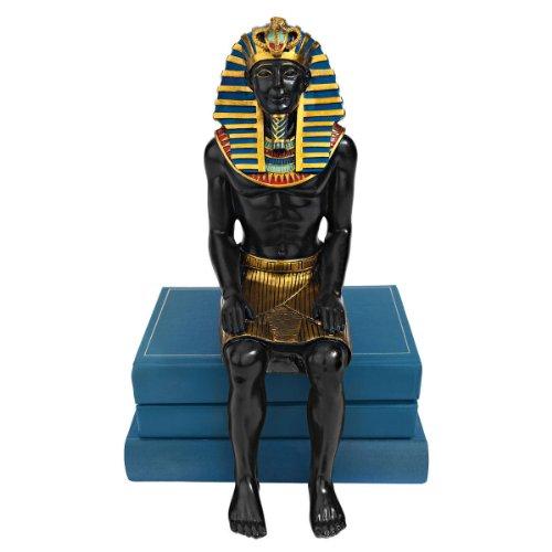 Design Toscano König Tut wacht, Regal mit sitzender Figur (Statue Von König Tut)