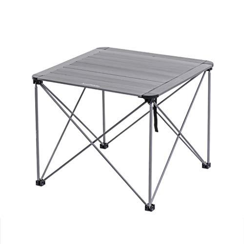 Outdoor Ultra kleinen Klapptisch Picknick Grill kleinen Tisch Esstisch Tee Tisch Ablagetisch (Farbe : B, größe : 69.5 * 69.5 * 56cm) ()