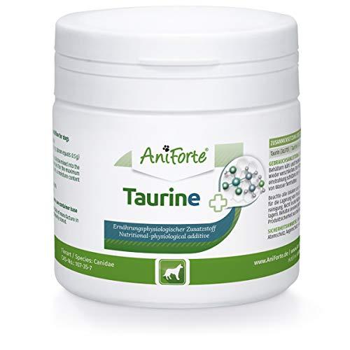AniForte Taurin für Hunde 100g - 100% reines Taurin, essentielle Aminosäure, Unterstützung Abwehrkraft & Zellstoffwechsel, Erhaltung Herzfunktion & Herzkreislaufsystem, wertvolle Futterergänzung