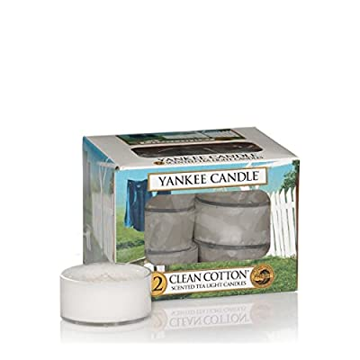 Yankee Candle Clean Cotton Scented Tea Light Candles - Pack of 12 from Yankee Candle