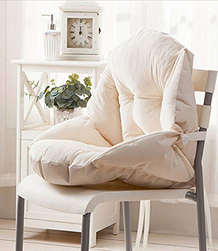 GLITZFAS Stuhlauflage Dicke Sitzauflage Niedriglehner Auflage Sitzkissen Niederlehner Stuhlkissen (55x45cm,Beige)