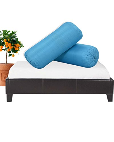 Salona Bichona Silk Bolster cover set of 2  available at amazon for Rs.199