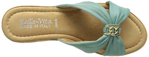 Bella Vita Aquila Large Cuir Sandales Compensés Aqua