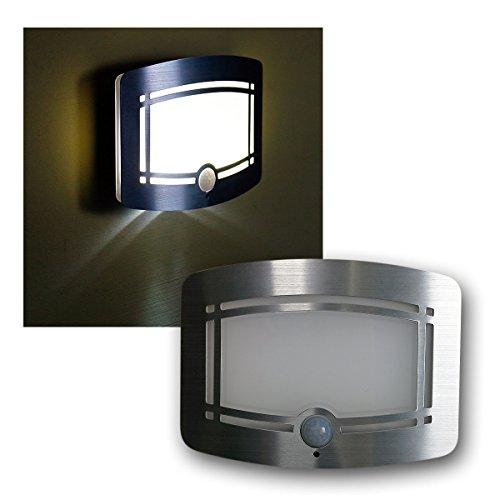 """LED-Wandleuchte """"Galano"""" neutralweiß, mit Bewegungsgmelder, Batteriebetrieb"""