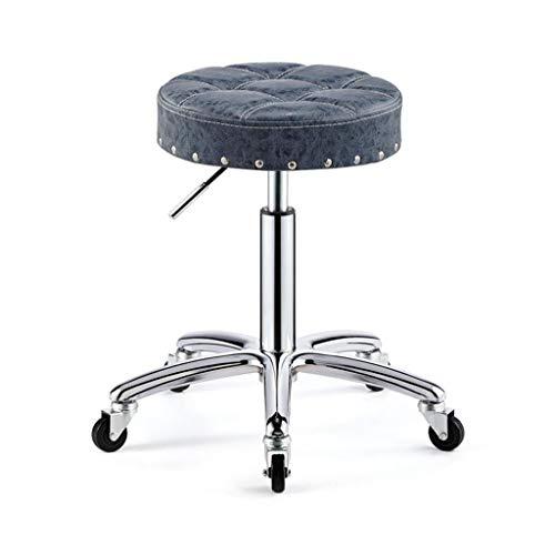 Beauty chair bar chair chair front chair rotatable bar sgabello da bar sgabello da parrucchiere sgabello con schienale resistente all'usura e facile da pulire pelle di alta qualità per rafforzare il t