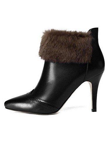 CU@EY Da donna-Stivaletti-Tempo libero-Stivali / Chiusa-A stiletto-Di pelle-Nero black-us6 / eu36 / uk4 / cn36