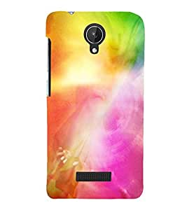 MODERN ART SMOKY PATTERN OF MIST 3D Hard Polycarbonate Designer Back Case Cover for Micromax Canvas Spark Q380