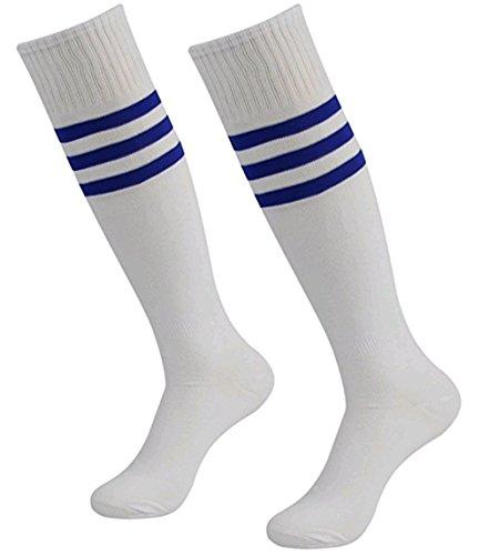 westeng 1Paar Herren Frauen long-barreled Streifen Socke Cheerleading Fußball Basketball Sports aus Baumwolle Knie Hohe Knöchel Socken, white 1 (Knöchel-länge-herren-socken)