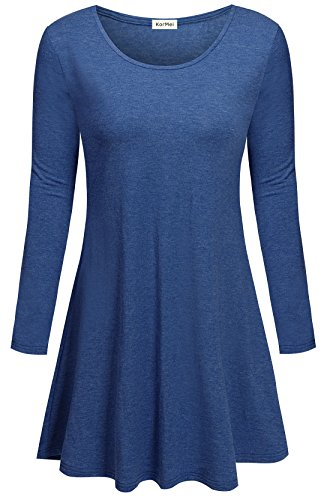 KorMei -  Vestito  - linea ad a - Maniche lunghe  - Donna Blau