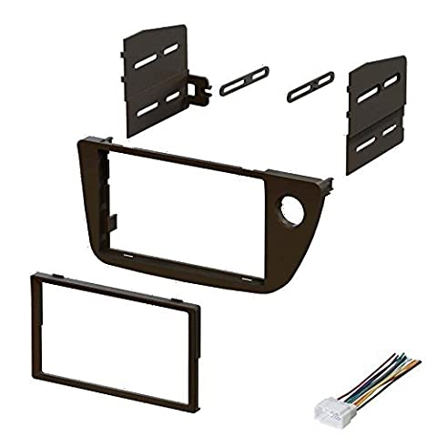 2002 2003 2004 2005 2006 Acura RSX Dash Kit Double Din Plastic Piece With Harness by Xsco (Din-radio-install Kit)
