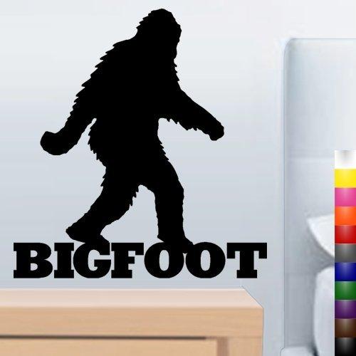 Nero 55,9cm Bigfoot Sasquatch Fun Wall & Window Decal