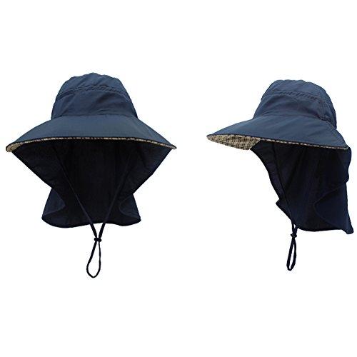 Amorar Männer Sonnenhut mit UV Schutz Sommer Hut Outdoor Sonnenschutz Cap mit Nackenschutz Schnell Trocken Fischerhut Atmungsaktiv Hüte für Radfahren, Wandern, Jagd, Camping,EINWEG Verpackung -