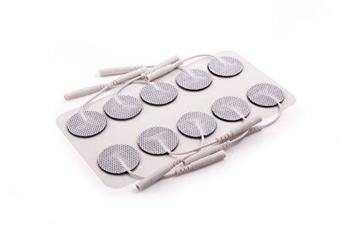 TensCare Electrodos de Alta Calidad, Autoadhesivo, Compatibles con Cualquier Electrostimulador con Fijación Universal