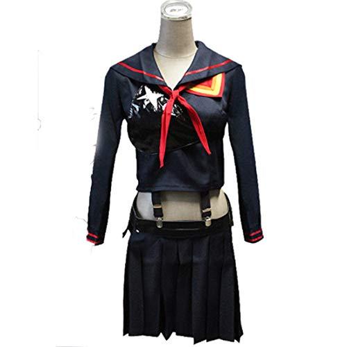 RL TÖTEN la TÖTEN Ryuko Matoi Cosplay Kostüme Japanischen Anime Party Halloween Kostüm Für Frauen Mädchen Kleid,Full Set-XL (Japanische Mädchen Halloween-kostüm)
