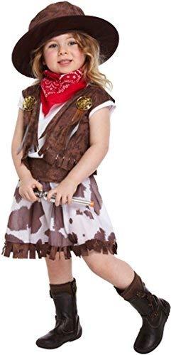 Kinder Kostüm Cowgirls - Henbrandt Cowgirl Kleinkinder Kinder Mädchen Kostüm Kinder Party Kostüm 2-4 Braun - Cowgirl Kostüm, Kleinkinder 2-4 Jahre