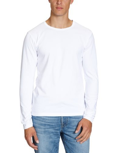 JACK & JONES - Pull Homme - BASIC O-NECK TEE L/S NOOS - Blanc (OPT WHITE OPT WHITE) - FR : XX-Large (Taille fabricant : XX-Large)