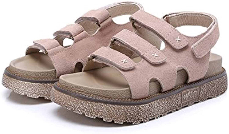 chaussures chaussures chaussures à semelles épaisses, xie femmes été cuir mesdames roFemme flat sandales les tendances de la mode summer student sandales 34 à 42 b07dnb2pmm parent | Se Vendant Bien Partout Dans Le Monde  3dc579