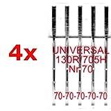 BIG-SAM - Universal Nähmaschinennadeln - 130R/705H - geschliffener Flachkolben - einzeln oder als Set erhältlich (20x 70)