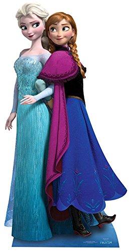 empireposter - Frozen - Anna & Elsa - Größe (cm), ca. ca. 162 - Pappaufsteller, NEU - Beschreibung: - Life-Size Stand-up, Lebensgroßer 2D Pappaufsteller -