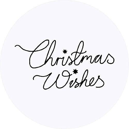 Azeeda 24 x 40mm Redondas 'Christmas Wishes' Pegatinas...