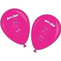 Procos - 86567-Globos con impresión de Masha y el Oso, 8unidades, rosa