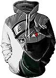 Jandz] Unisex Hoodie Naruto: Donner, 3D Drucken, Otaku, Cosplay, Manga, Anime-Design (Asian (2XL) → EU (L), Style- 2072)