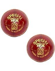 WCC CW Special test scuola grado A prova di protezione professionale in pelle rossa palle da cricket per ragazzi 155,9gram in confezione da 2