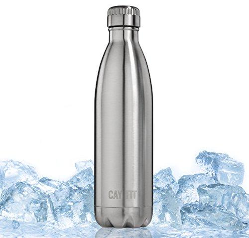 Cayman Fitness-Bottiglia termica in acciaio inox 500ml o 740ml, 740