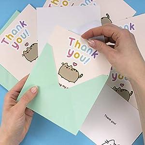 Thumbs Up PUSHTNKYOU8 Pusheen Party - Notas de Agradecimiento