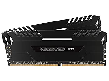 Corsair Vengeance LED 16 GB (2 x 8 GB) DDR4 3333 MHz C16 XMP 2.0 Enthusiast LED Illuminated Memory Kit - Black with White LED Lighting
