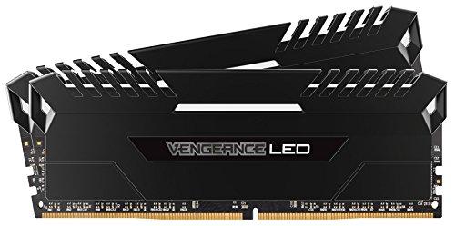 Corsair Vengeance LED - Kit de Memoria Entusiasta, 32 GB (2 x 16 GB), DDR4, 3200 MHz, C16, XMP 2.0, Negro con Blanco LED Iluminación