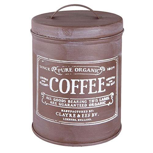 Metall Vorratsdose Retro 'COFFEE' Kaffedose braun 10*14 cm