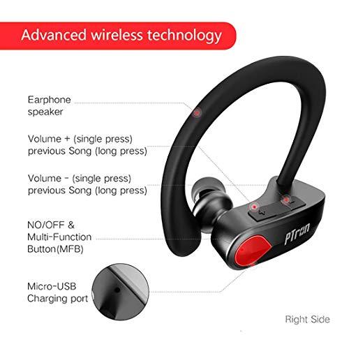 pTron Twins Pro in-Ear True Wireless Bluetooth Headphones (TWS) with Mic - (Black) Image 3