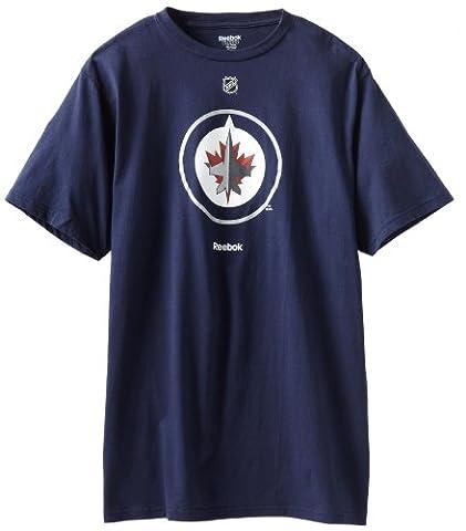 Winnipeg Jets Reebok NHL Primary Logo T-Shirt - Navy