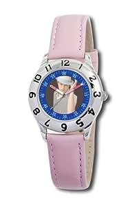 Disney Kinder-Armbanduhr Ryan Evans Lernuhr rosa Leder #0803C009D052S401