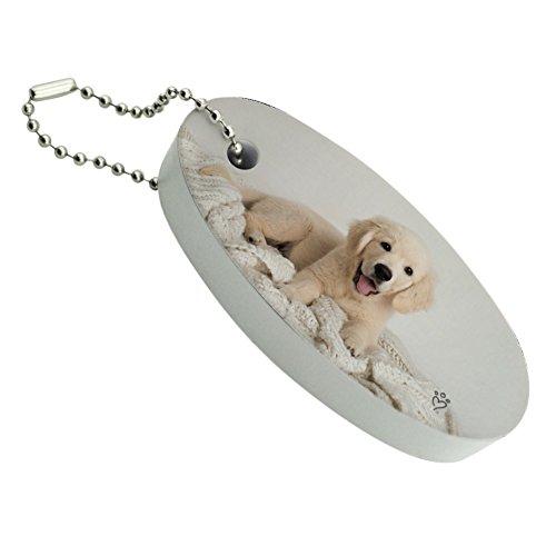 Graphics and More Golden Retriever Puppy Hund und Decke Floating Foam Angeln Boot Boje Schlüsselanhänger Key Float