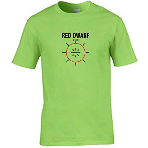 RED DWARF-t shirt Herren Lime
