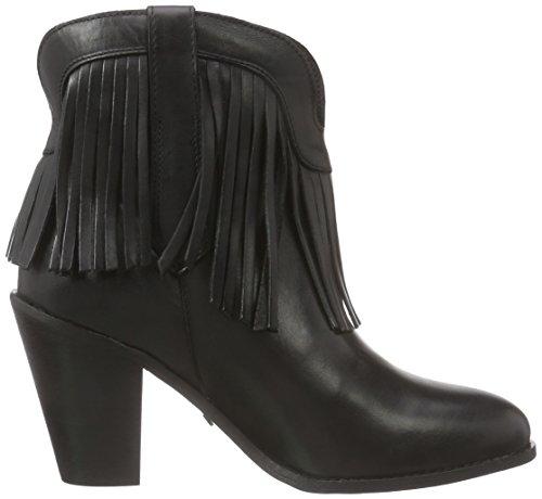 Buffalo ES 30743 ANILINA, Bottes Cowboy courtes, doublure froide femme Noir - Schwarz (PRETO 01)