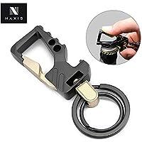 Naxis Black Antique Metal Keychain for Men Or Girl Key Ring Hook Keychain Holder for Bikes Car Keychains (Black)