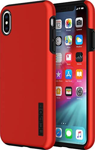 Incipio DualPro Schutzhülle für Apple iPhone Xs Max - rot/schwarz [Extrem robust I Stoßabsorbierend I Soft-Touch Beschichtung I Hybrid I Qi kompatibel] - IPH-1757-RBK