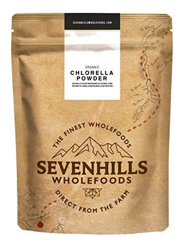 Sevenhills Wholefoods Chlorella-Pulver Bio 500g (Trockene Algen Dünger)