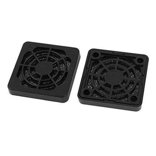 sourcingmap® 2 x Staubdicht Staubfilter Schutzgitter Abdeckung für 40mm PC Computer-Gehäuselüfter de -