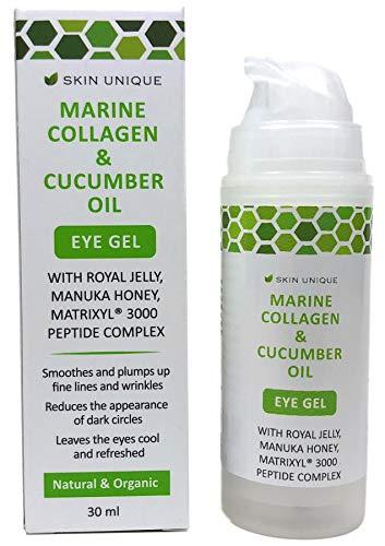 Collagène marin et Huile de concombre Gel pour les yeux 30 ml - Crème hydratante...