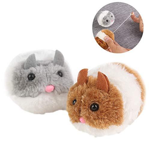 Legendog Maus Spielzeug Ziehen um Vibrieren Flexibel Plüsch Maus Kätzchen Interaktiv Spielzeug