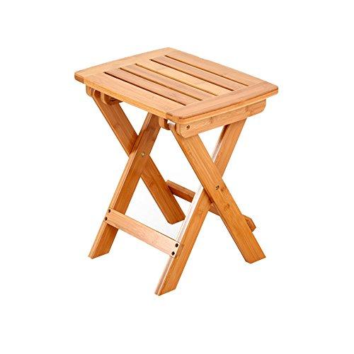 HJR-Chaises Tabouret pliant, maison portable Mazawa à bois massif, chaise de pêche en plein air, petit banc, tabouret, tabouret carré (Couleur : # 2, taille : 32.8 * 25.5 * 34.5cm)