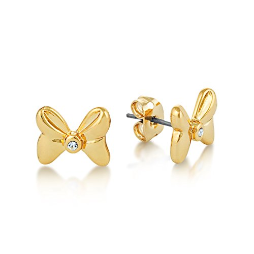 Disney Minnie Mouse orecchini placcati in oro con cristallo