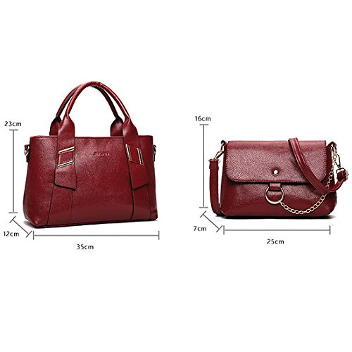 YYW Totes Handbags, Borsa a zainetto donna wine red color