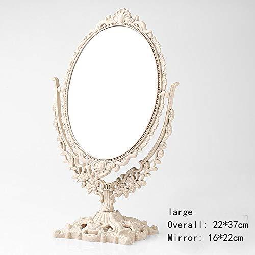 Kompaktspiegel Rasierspiegel Schminkspiegel 3X Zoom Europäischen Stil Tragbare Spiegel Schminktisch Spiegel Swivel Kosmetikspiegel, Vintage Retro Doppelseitige Schminkspiegel Für Kommode badspiegel*-* -