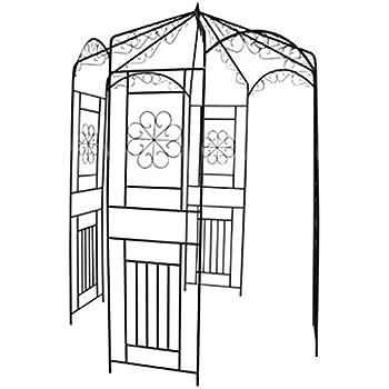 rosenpavillon metall 270 h he rankhilfe gartenpavillon rankgitter rosenbogen garten. Black Bedroom Furniture Sets. Home Design Ideas